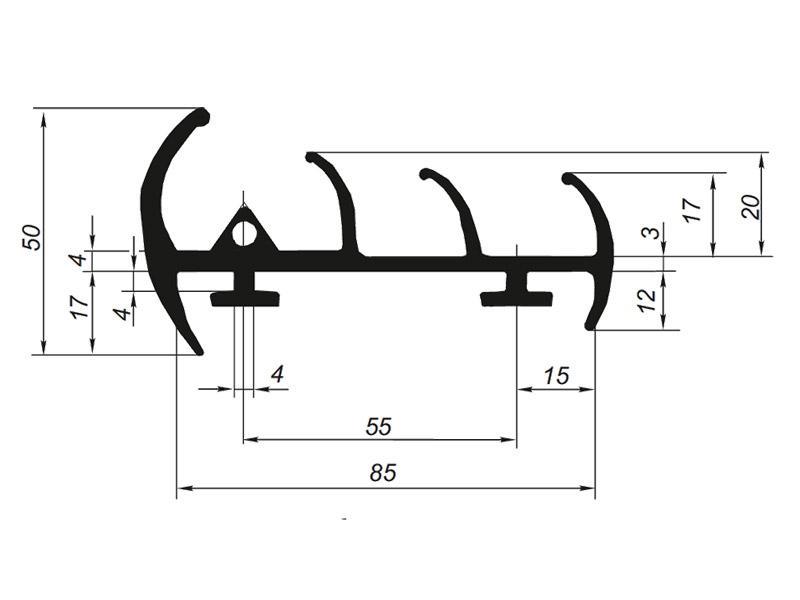 905022 Профиль уплотнительный для рефрижератора