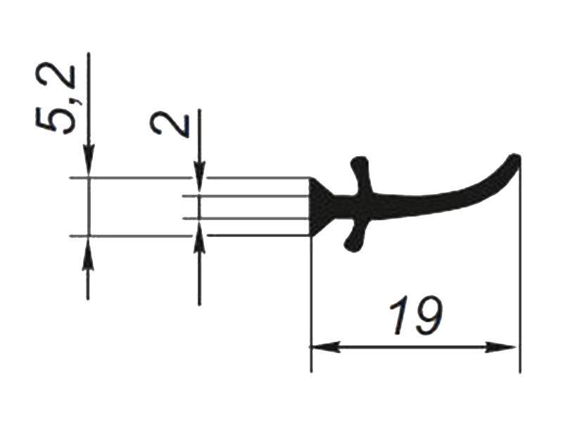 905031 ТЭП, Профиль уплотнительный L-30 м (внутр