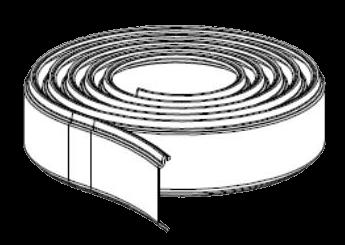 905050 Профиль от налива для сдвижных крыш Edscha