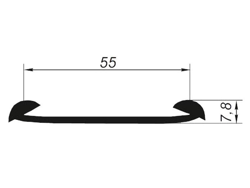 905065 Профиль плоский