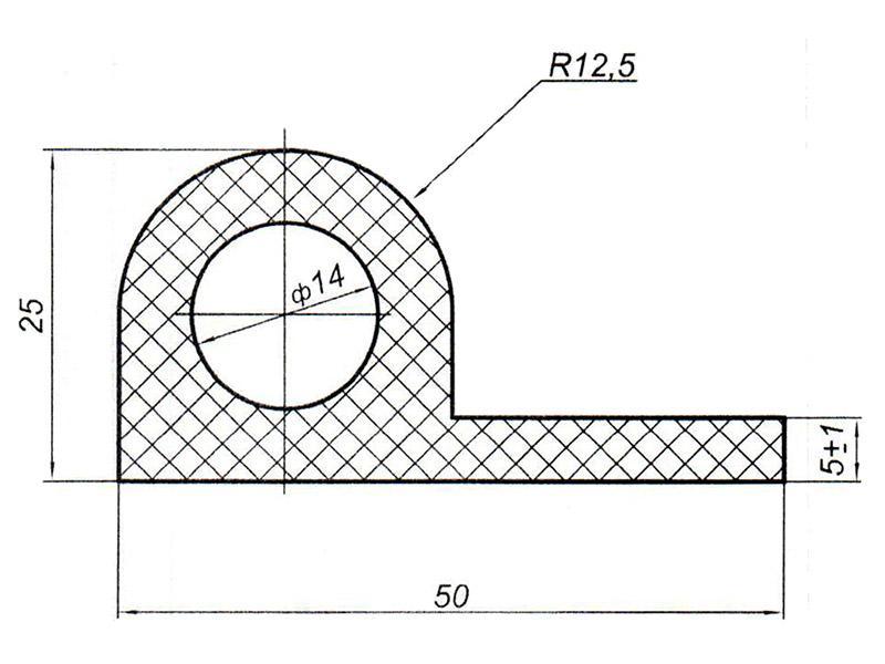 905402 Профиль Р-образный для цистерн, контейнеров