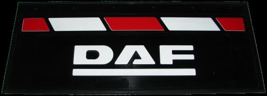 90144 Брызговик 660х270mm DAF задний красно-белый