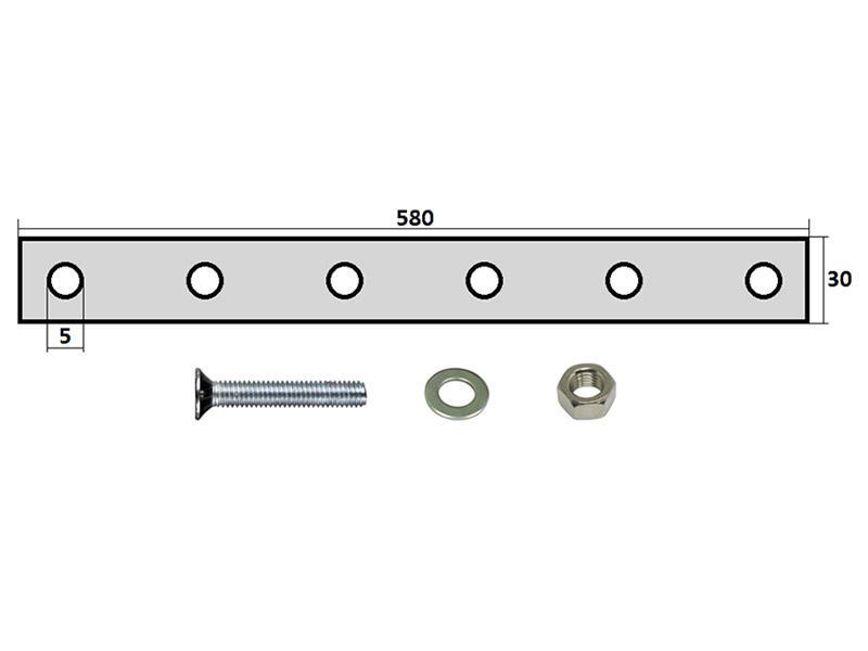 99101 Комплект крепления брызговика 590х360мм