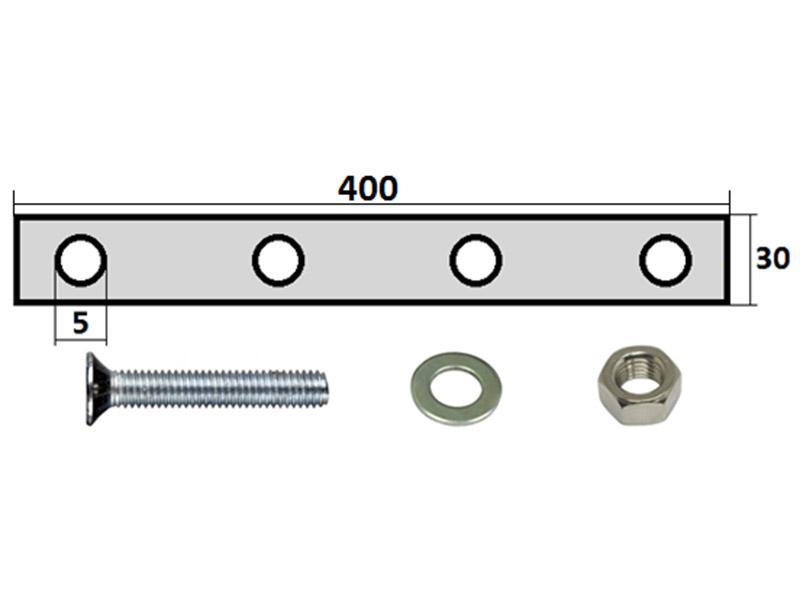 99102 Комплект крепления брызговика 400х400мм