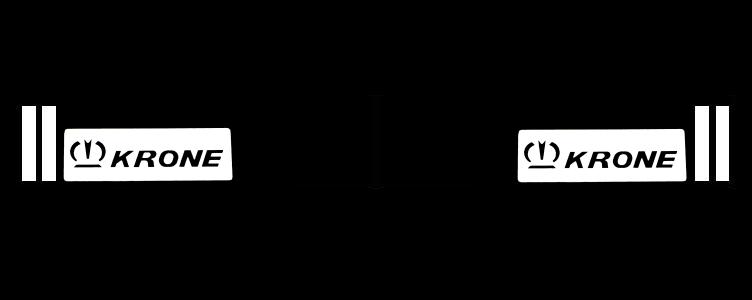 350381126 Брызговик KRONE синий светоотражающий к-т 2шт