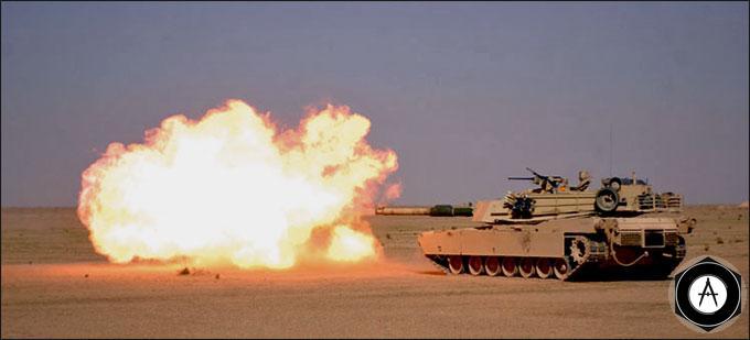 M1A1 Abrams Tank залп 2