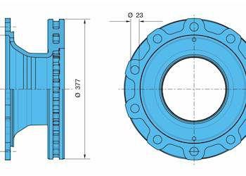 6502031 Тормозной диск