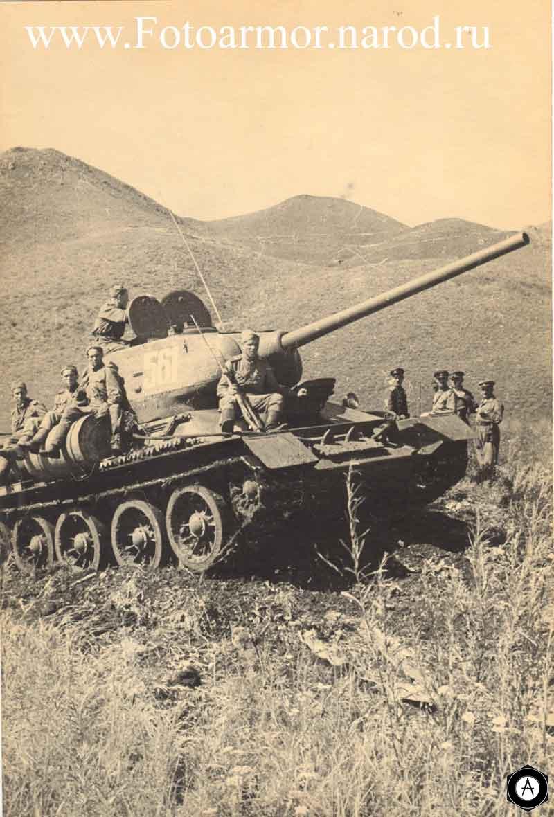 Танк Т-34-85 в Маньчжурии