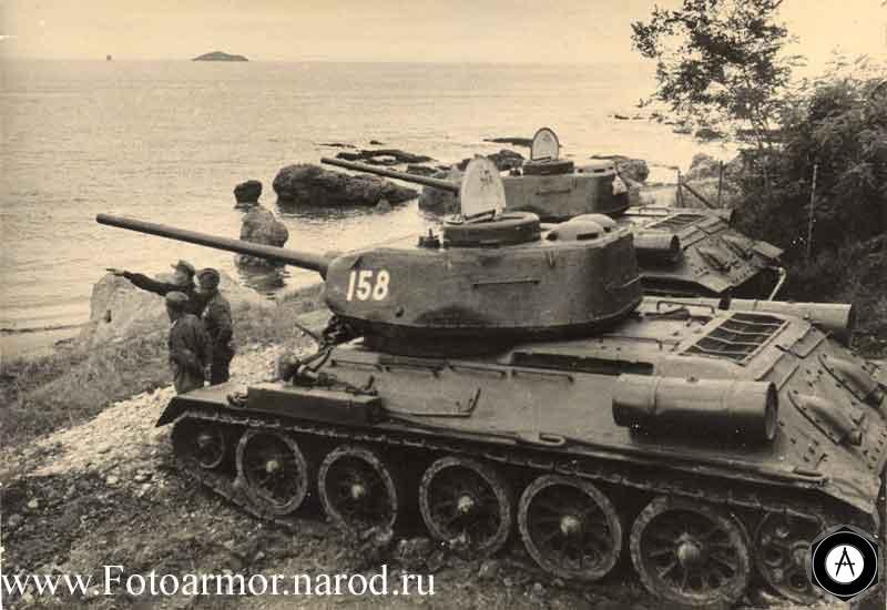 Танки Т-34-85 в Прибалтике