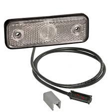 5266045004 Фонарь маркерный белый фронтальный LED с кабелем 96х31-70_(316604097,315004107,0657L)