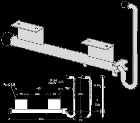 Фиксатор двери поворотный (9071)