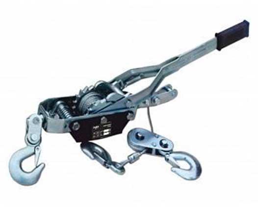 SZ059334 Лебедка рычажная гаражная Magnus-Profi LRG-2001, 2 т, канат 2.5 м, одинарный храповый механизм