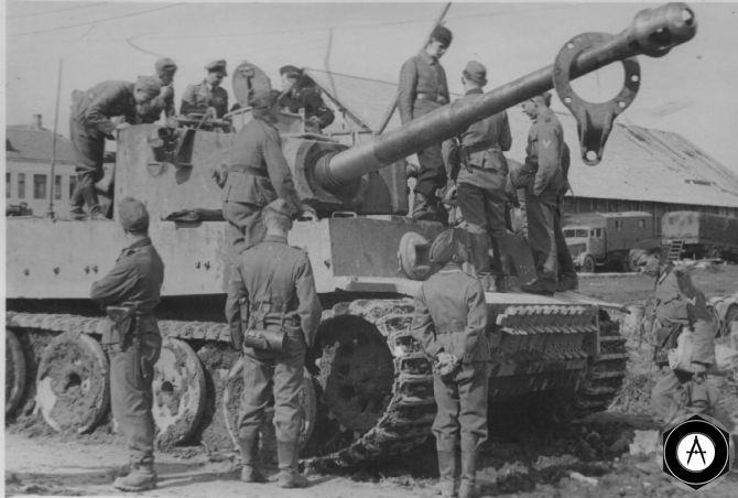 Pz VI tiger а испытаниях 1942