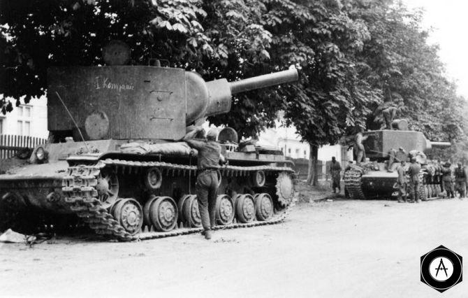 захваченные КВ-2 1941, Прибалтика