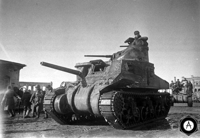 М3а3 Генерал Грант в Красной армии по лендлизу 1942