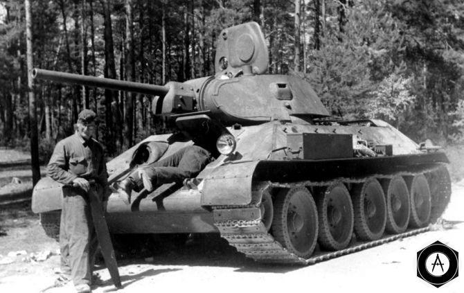 Т-34 с экипажем