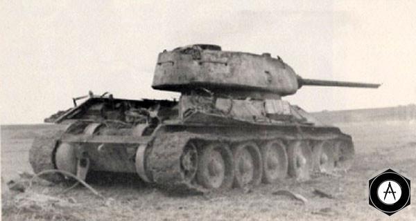взорванный Т-34-85