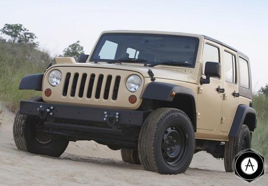 Jeep Wrangler Unlimited J8 модернизировали для военных