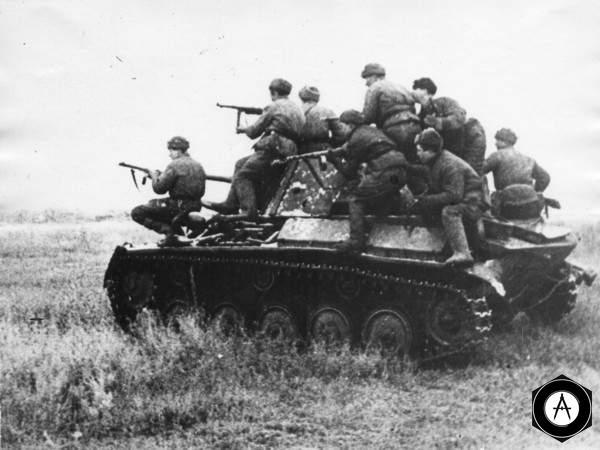 Десант на броне Т-70