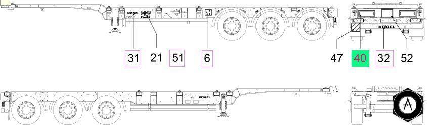 Компановка прицепа Koegel - контейнеровоз