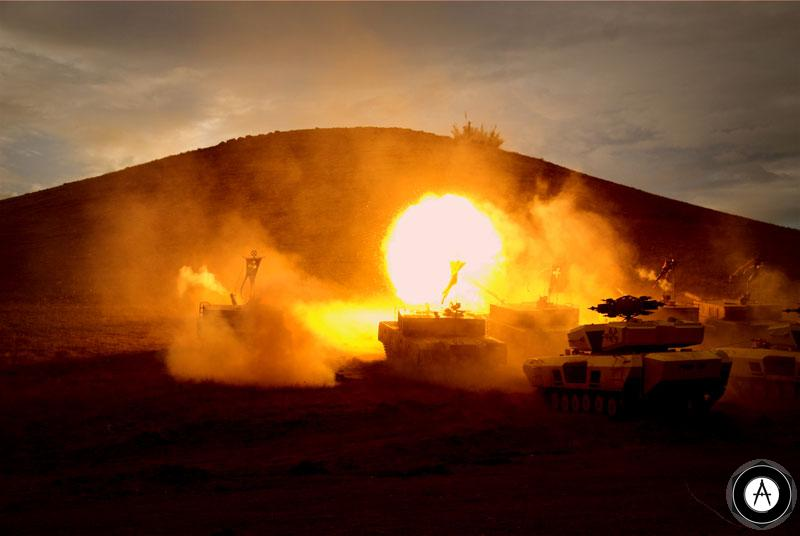 Эпизод танковой атаки