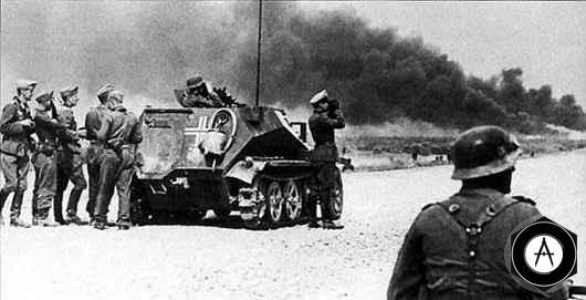 мобильный наблюдательный пункт батальона вермахта