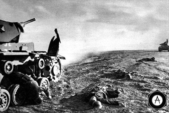 Атака немецких танков отбита