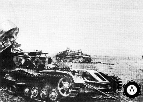 Атака немецких танков отбита Курск