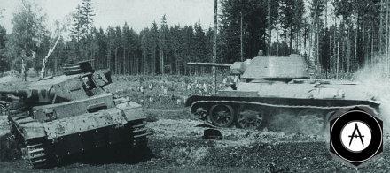Атака среднего танка Т-34-76 образца 1942 года