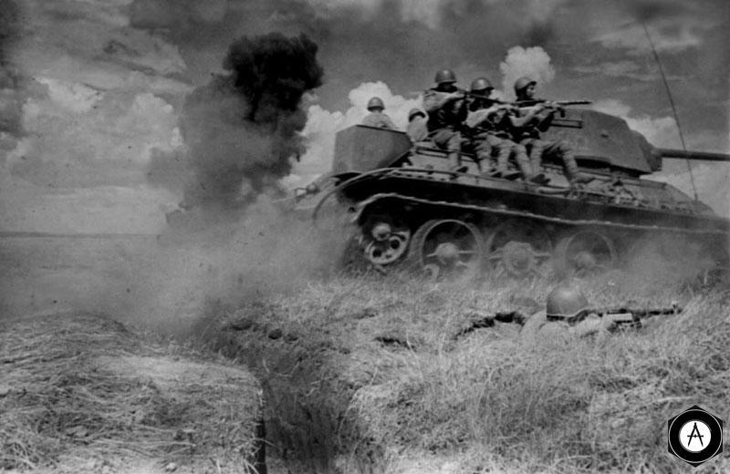 В атаке танковый десант