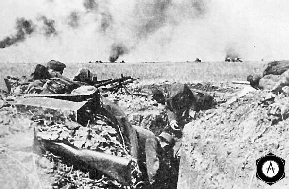 пехота вермахта обороняется в полосе наступления Тацинского танкового корпуса