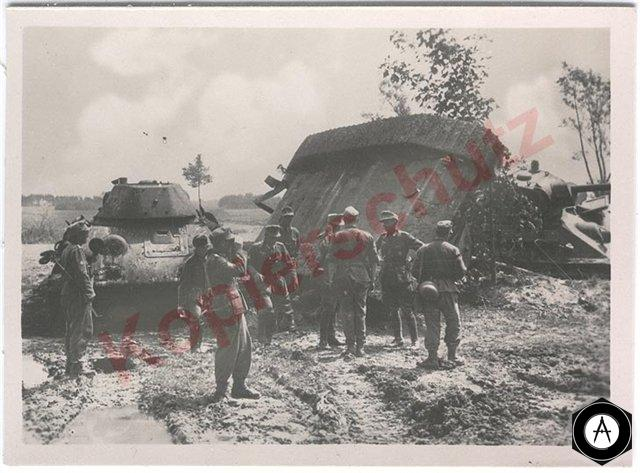 группа Т-34 уничтоженных авиацией