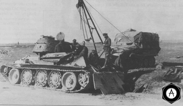 замена двигателя В-2 на Т-34