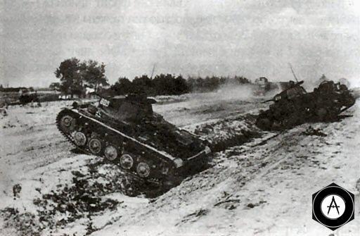 Легкие танки Pz Kpfw II в атаке