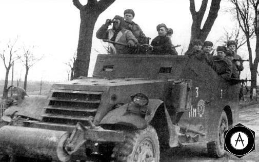 М3А1 Скаут кар 3 танковый корпус, 2-го Белорусского