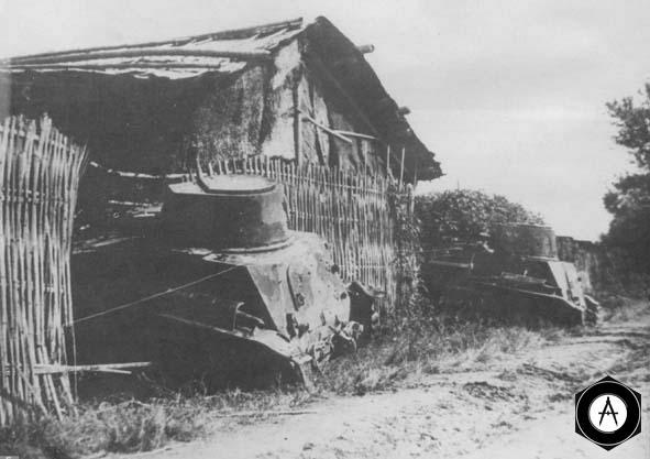 Малые танки 2592 готовяться к атаке, Китай, конец 1930-х