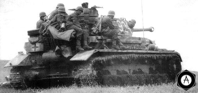 Наступление немецких танков на Москву в 1941 году