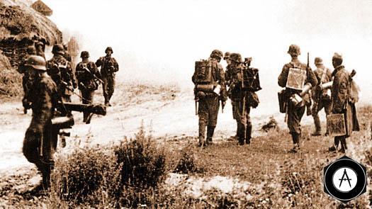 немецкая пехота после неудачной атаки