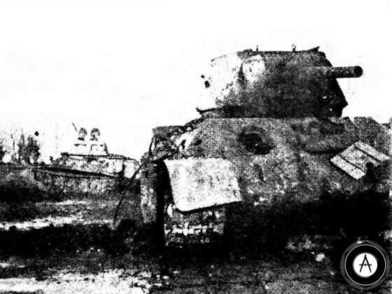 Подбитые танки T-34