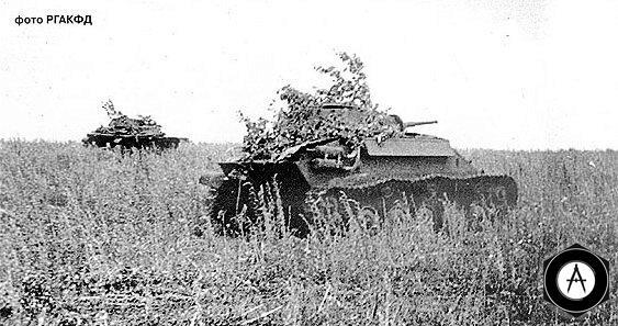 Советские танки Т-70 колонны Революционная Монголия