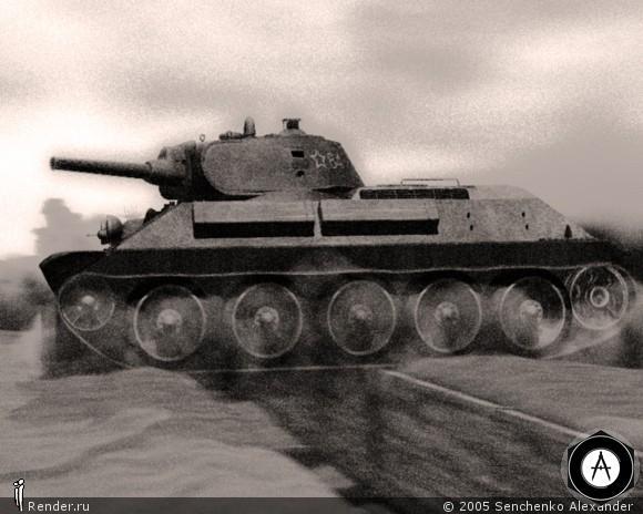 Т-34 40г на скорости
