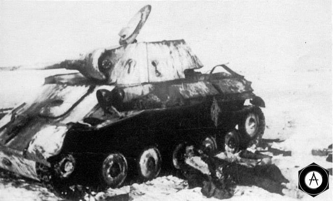 Т-70 После атаки Штук под Старой Руссой