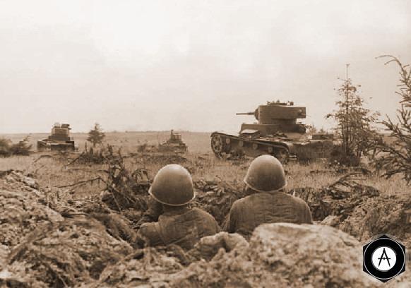 Танки в атаку!!! питер 1941 Т-26