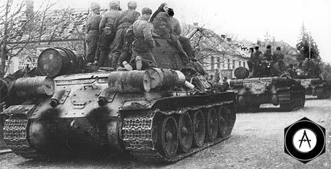 танки с десантом в городе