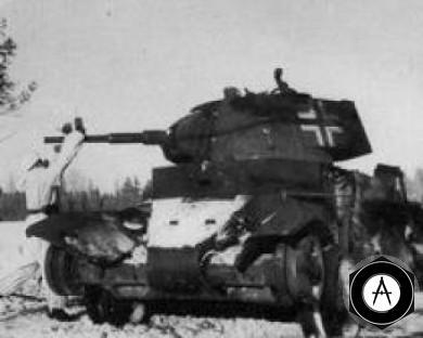 Танковая армия подверглась атаке под Тулой  трофейный БТ