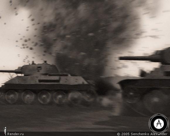 Танковая атака  видео