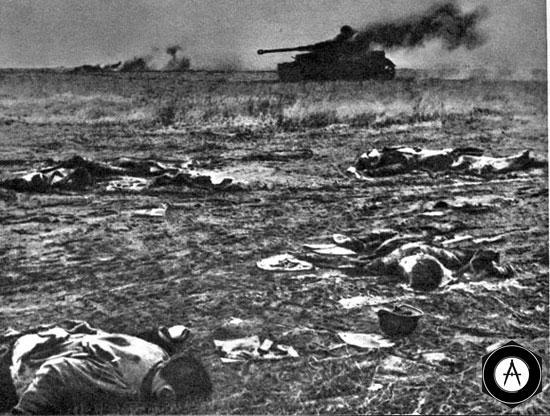 Танковая атака врага отбита июль 1943