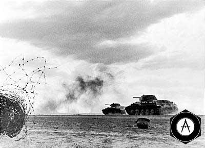 Танковая атака под Сталинградом