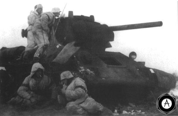 у подбитого Т-34