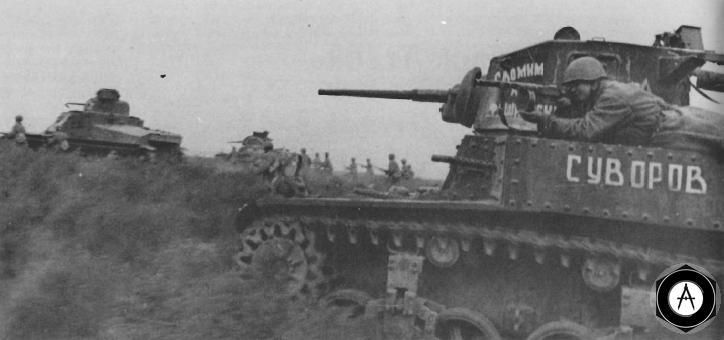M3_Tank Стюарт_М4 Лее Stalingrad